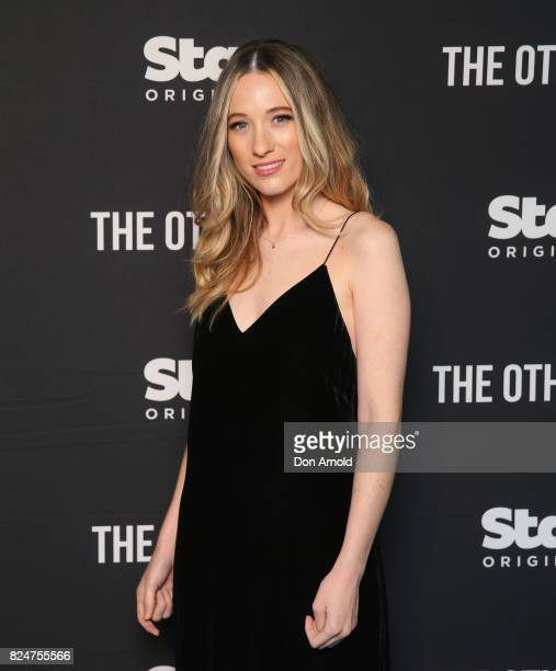 Sophie Lowe arrives ahead of the premiere of Matt Okine's new series 'The Other Guy' at Museum of Contemporary Art on July 31 2017 in Sydney Australia