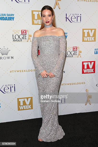 Sophie Lowe arrives at the 58th Annual Logie Awards at Crown Palladium on May 8 2016 in Melbourne Australia