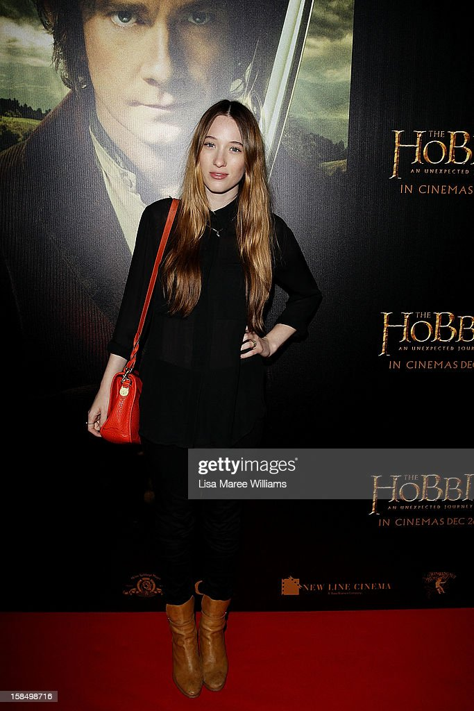 Sophie Lowe attends the Sydney premiere of 'The Hobbit: An Unexpected Journey' at George Street V-Max Cinemas on December 18, 2012 in Sydney, Australia.