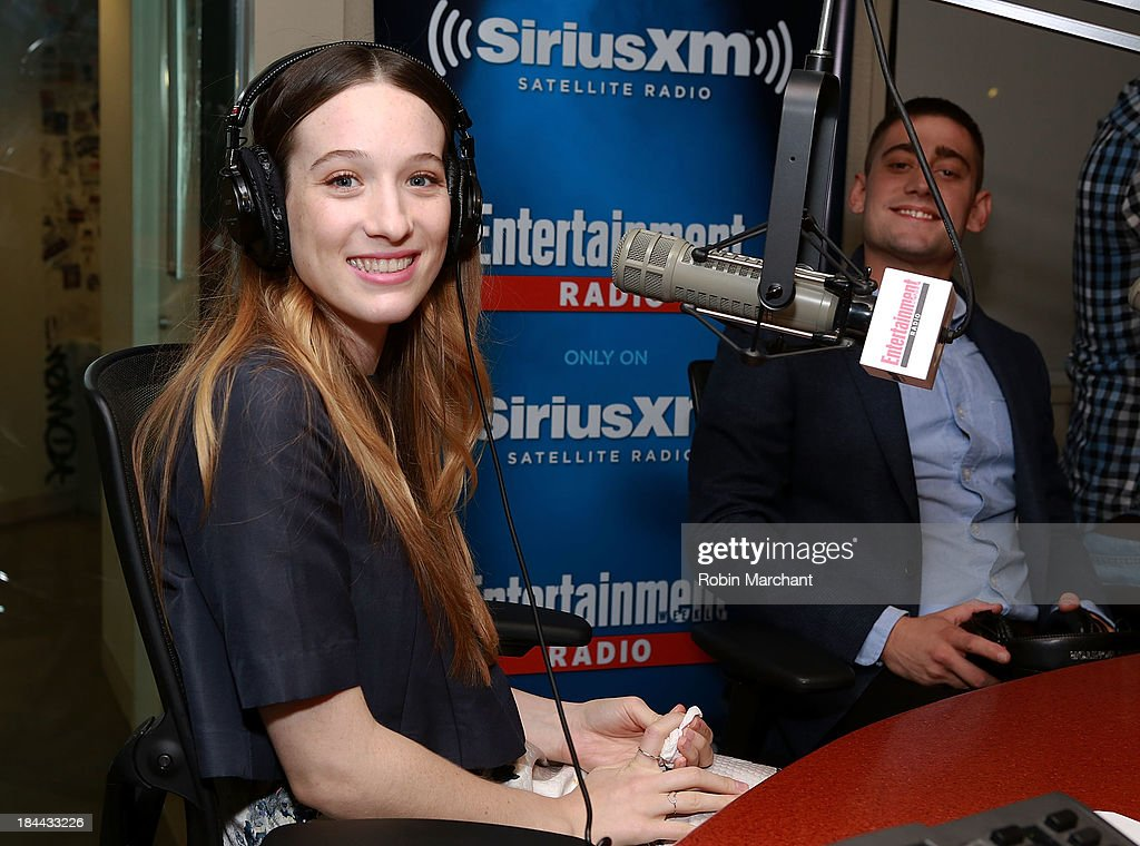 Sophie Lowe visits 'TV Recap' on Entertainment Weekly Radio at SiriusXM Studios on October 9, 2013 in New York City.