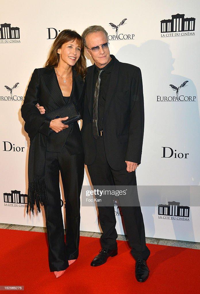 Sophie Marceau and Christophe Lambert attend 'La Cite Du Cinema' Launch - Red Carpet at Saint Denis on September 21, 2012 in Paris, France.