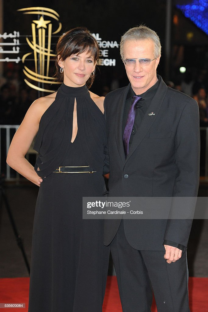 Sophie Marceau and Christophe Lambert attend the Opening Ceremony of the Marrakech 10th Film Festival.