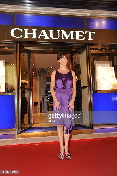 Sophie Marceau attends a press conference to promote Chaumet at Chaumet Flagship Store on April 28 2011 in Hongkong China