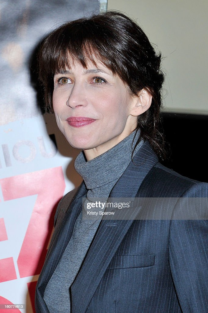 Sophie Marceau attends the 'Arretez Moi' Paris Premiere at the UGC Cine Cite des Halles on February 5, 2013 in Paris, France.