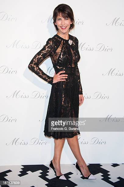 Sophie Marceau attends the 'Esprit Dior Miss Dior' Exhibition Opening at Grand Palais on November 12 2013 in Paris France