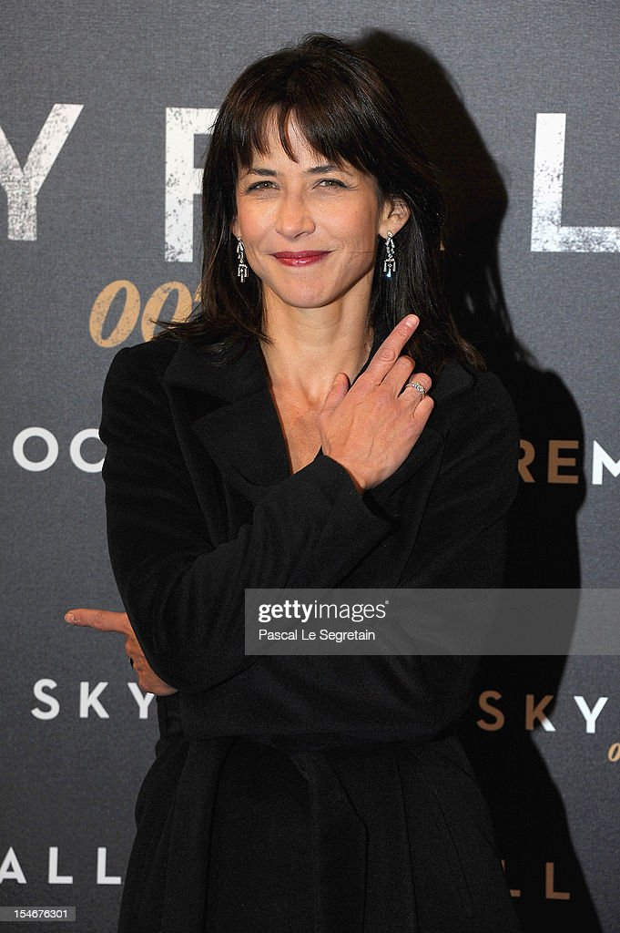 Sophie Marceau attends the premiere of the latest James Bond 'Skyfall' at Cinema UGC Normandie on October 24, 2012 in Paris, France.