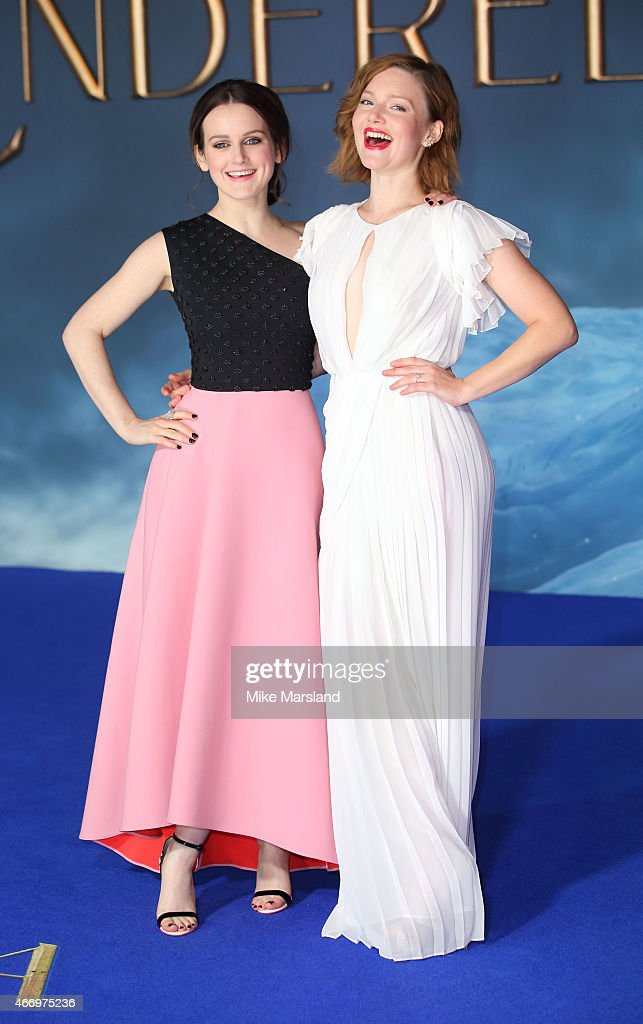 Sophie McShera and Holliday Grainger attend the UK Premiere of 'Cinderella' at Odeon Leicester Square on March 19 2015 in London England