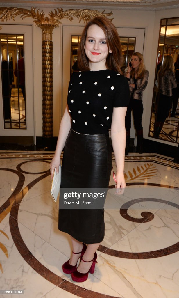 <a gi-track='captionPersonalityLinkClicked' href=/galleries/search?phrase=Sophie+McShera&family=editorial&specificpeople=7829938 ng-click='$event.stopPropagation()'>Sophie McShera</a> attends a drinks reception at the South Bank Sky Arts awards at the Dorchester Hotel on January 27, 2014 in London, England.