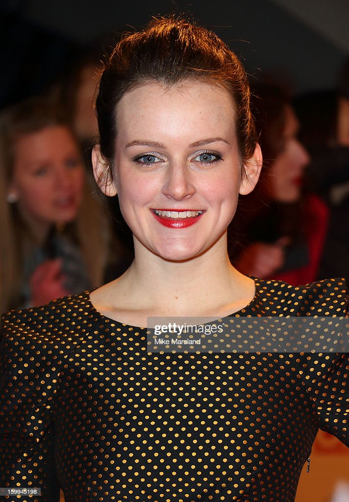 Sophie McShera attends the National Television Awards at 02 Arena on January 23, 2013 in London, England.