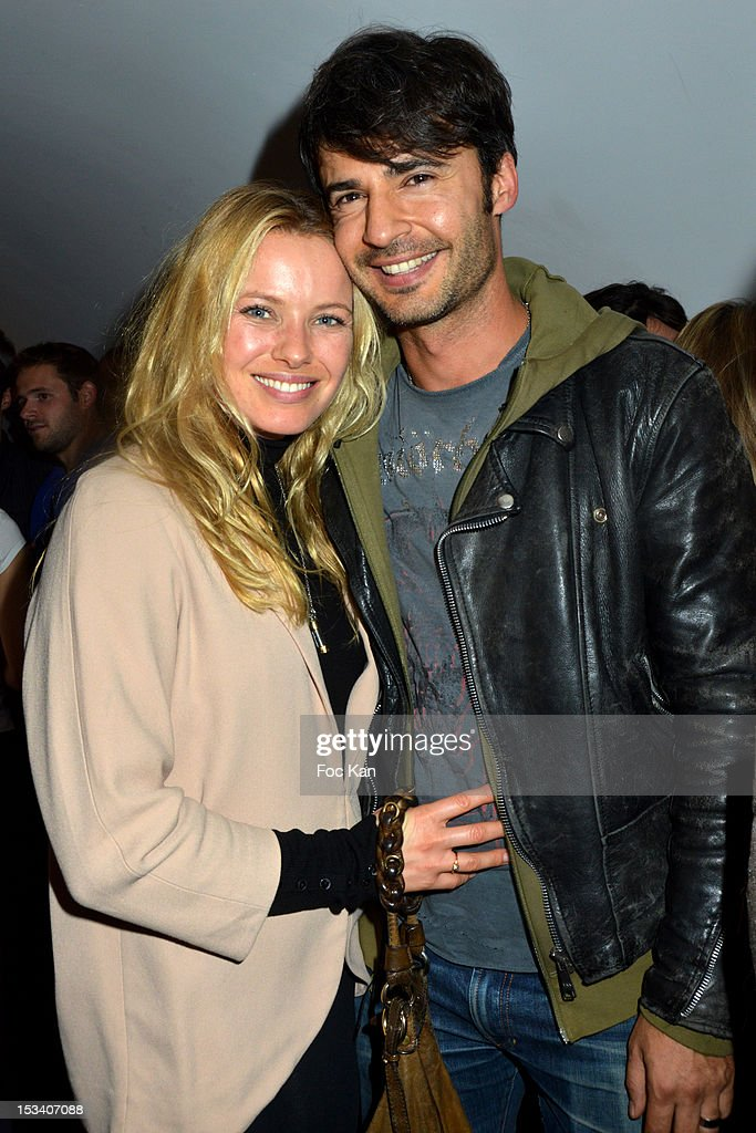 Sophie Meister and a guest attend the Reebok Ephemeral Beaubourg Flagship Store Opening Party at L'Imprimerie October 4, 2012 in Paris, France.