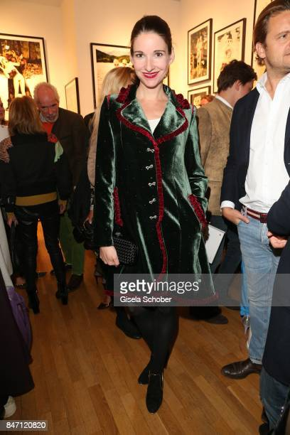 Sophie Meister Wepper wearing a dress by Lola Paltinger during the 'Ellen von Unwerth HEIMAT' Exhibition Opening at Immagis Fine Art Photography...