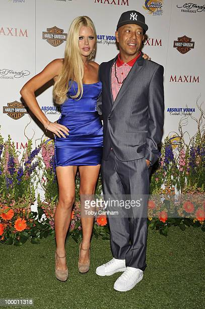 Sophie Monk and Russell Simmons pose for a picture at the 11th Annual Maxim Hot 100 Party on May 19 2010 in Los Angeles California