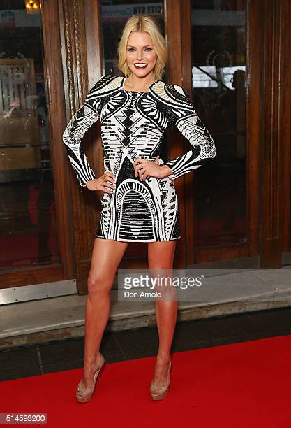 Sophie Monk arrives ahead of the Australia's Got Talent Grand Final at Capitol Theatre on March 10 2016 in Sydney Australia