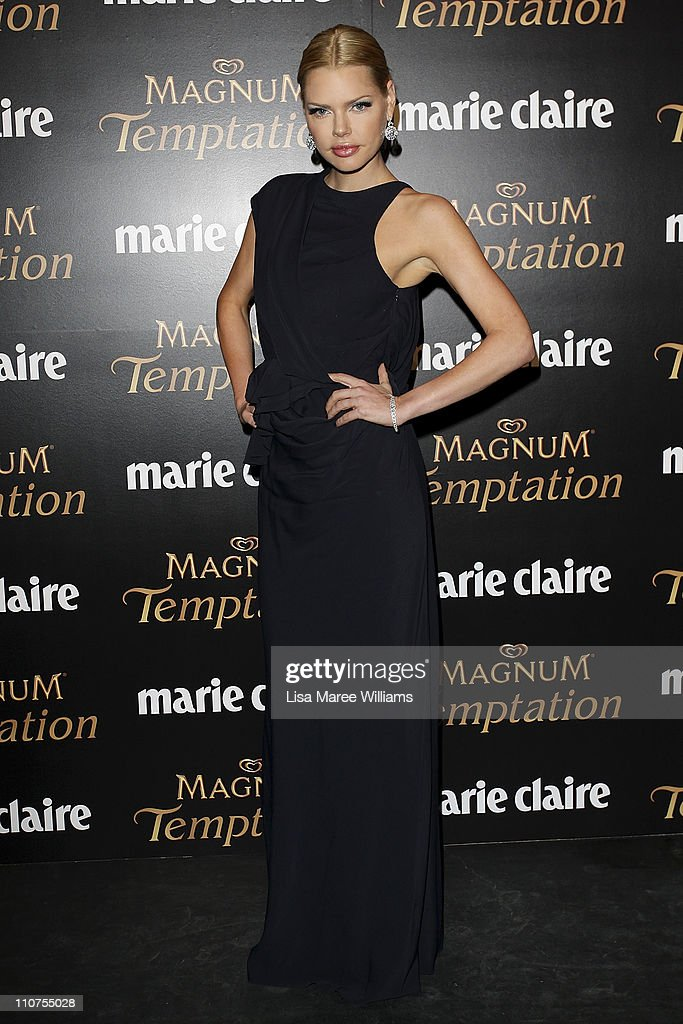 Sophie Monk arrives at the 2011 Prix De Marie Claire Awards at Fox Studios on March 24 2011 in Sydney Australia