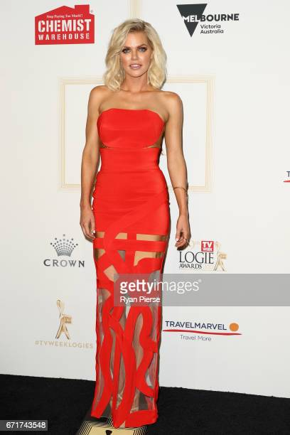 Sophie Monk arrives at the 59th Annual Logie Awards at Crown Palladium on April 23 2017 in Melbourne Australia
