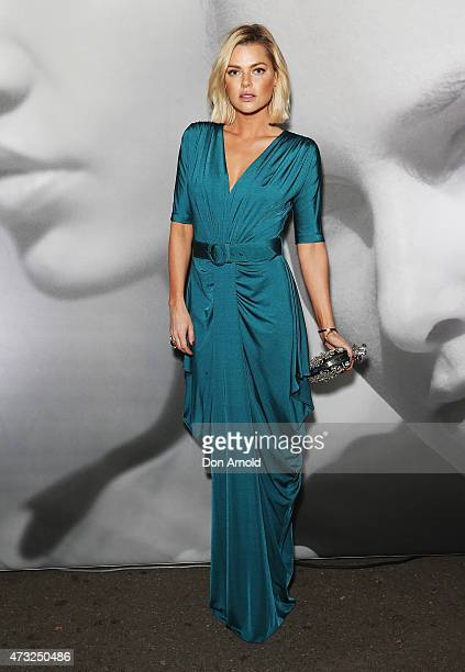 Sophie Monk arrives at the opening night of Sydney Fashion Weekend at Moore Park on May 14 2015 in Sydney Australia