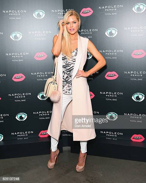 Sophie Monk attends the launch of 'Total Bae' for Napoleon Perdis on April 28 2016 in Sydney Australia