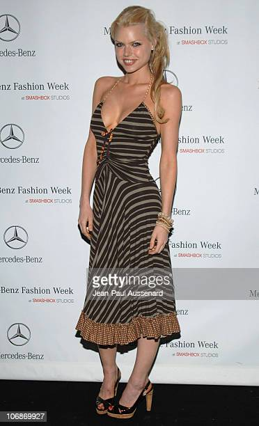 Sophie Monk during MercedesBenz Fall 2006 LA Fashion Week at Smashbox Studios Day 4 Arrivals at Smashbox Studios in Culver City California United...