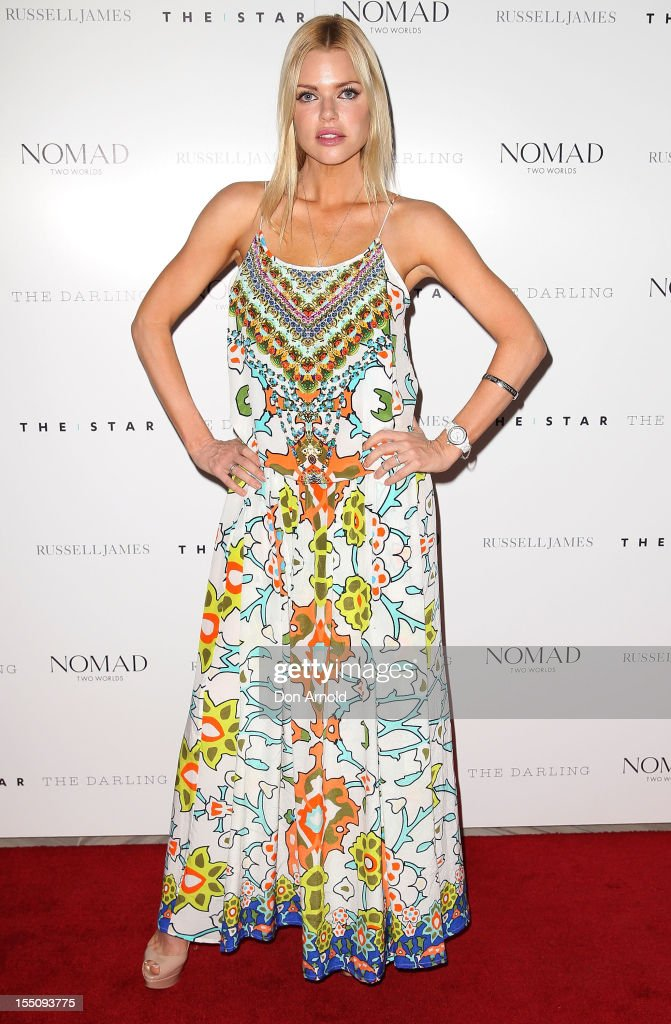 Sophie Monk poses at the book launch of 'Nomad Two Worlds' by Russell James on November 1, 2012 in Sydney, Australia.