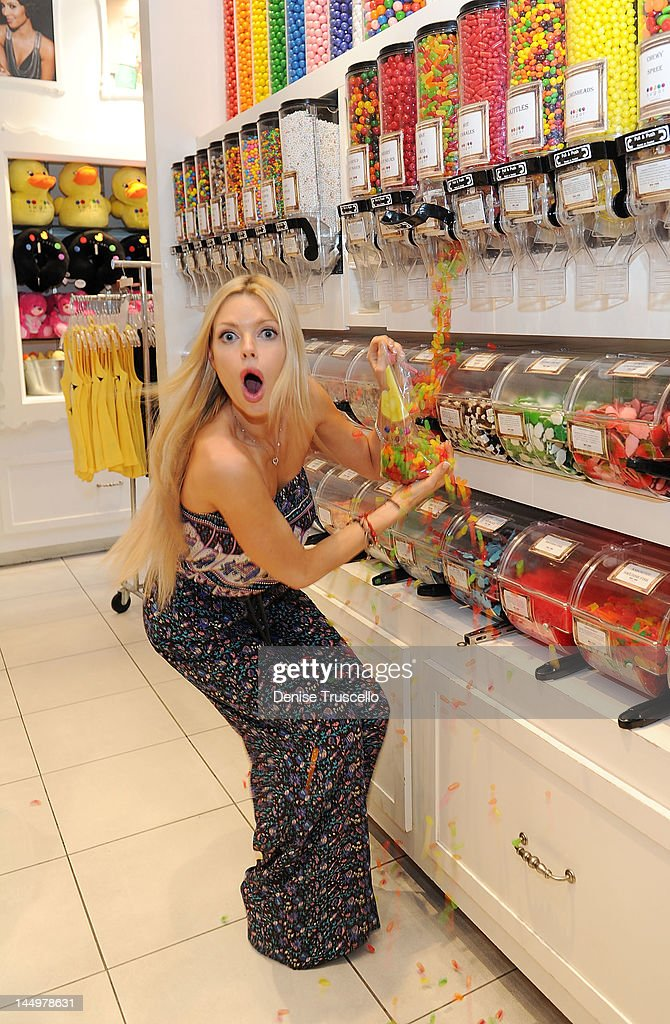 Sophie Monk shops at Sugar Factory at the Paris Hotel and Casino on May 21 2012 in Las Vegas Nevada