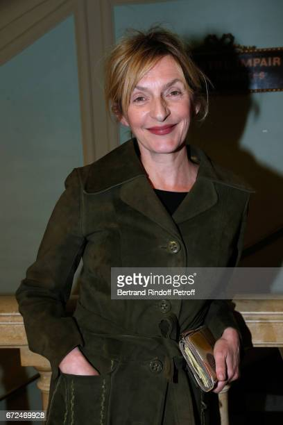 Sophie Mounicot attends 'La Recompense' Theater Play at Theatre Edouard VII on April 24 2017 in Paris France
