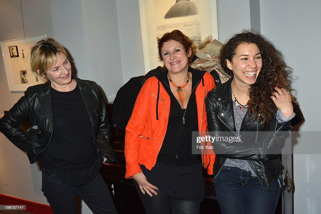Sophie Mounicot, Valerie Vogt and Sofiia Manousha attend the 'Par Amour' Paris Premiere at Studio 28 on December 26, 2012 in Paris, France.
