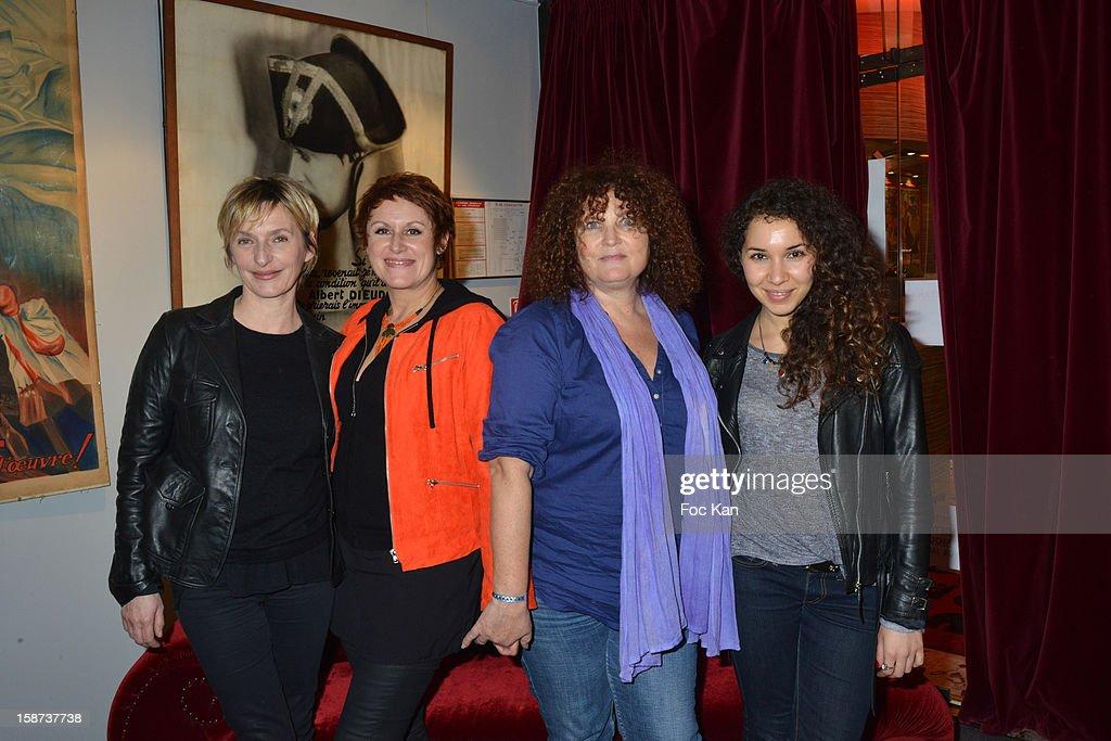 Sophie Mounicot, Valerie Vogt, Valerie Mairesse and Sofiia Manousha attend the 'Par Amour' Paris Premiere at Studio 28 on December 26, 2012 in Paris, France.