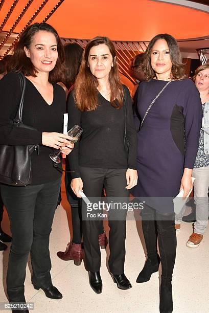 Sophie Obadia Negar Djavadi and Viktor LazloÊ attend 'Le Prix Du Style 2016' Literary awards at BMW Brand Store GeorgesV on November 22 2016 in Paris...