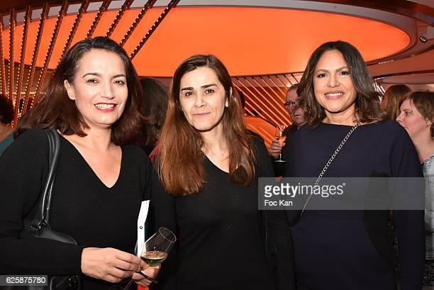 Sophie Obadia Negar Djavadi and Viktor Lazlo attend 'Le Prix Du Style 2016' Literary awards at BMW Brand Store GeorgesV on November 22 2016 in Paris...