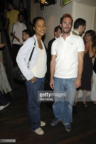 Sophie Okonedo and Joseph Fiennes during Cries from the Heart 2006 A Celebration of Voices for Justice in Support of Human Rights Watch June 18 2006...