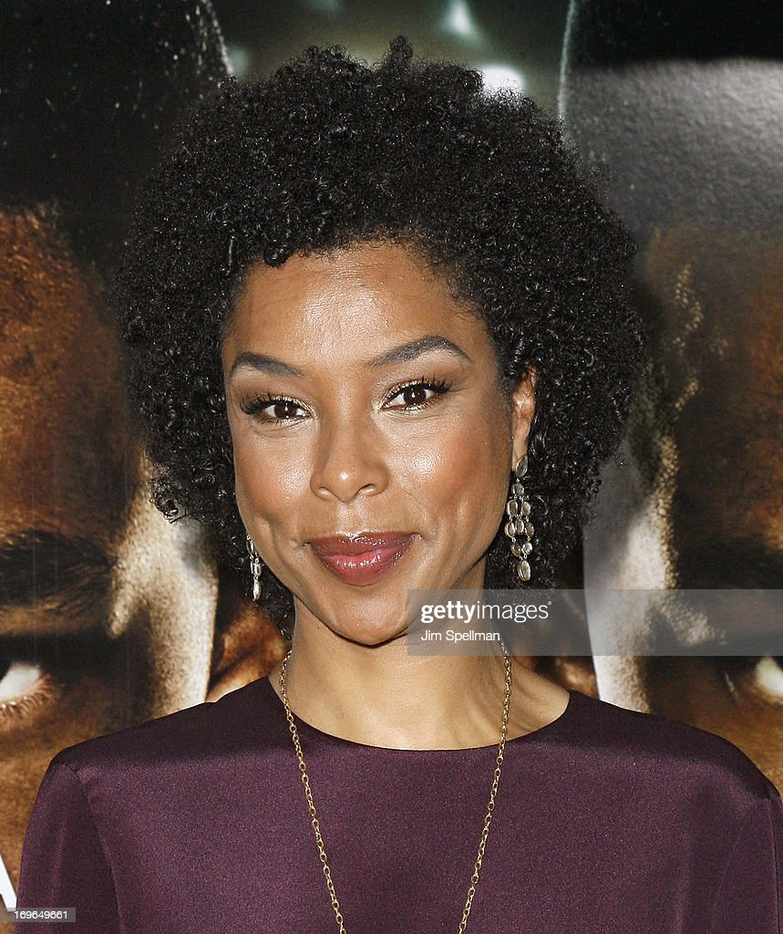 Sophie Okonedo attends the 'After Earth' premiere at the Ziegfeld Theater on May 29, 2013 in New York City.