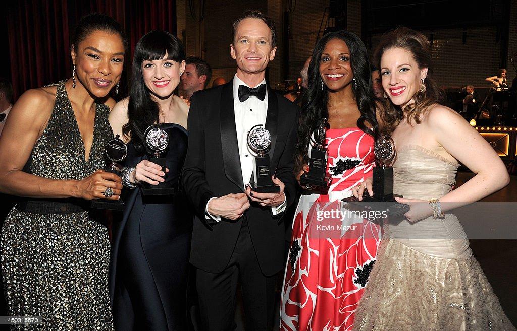 Sophie Okonedo Lena Hall Neil Patrick Harris Audra McDonald and Jessie Mueller attend the 68th Annual Tony Awards at Radio City Music Hall on June 8...