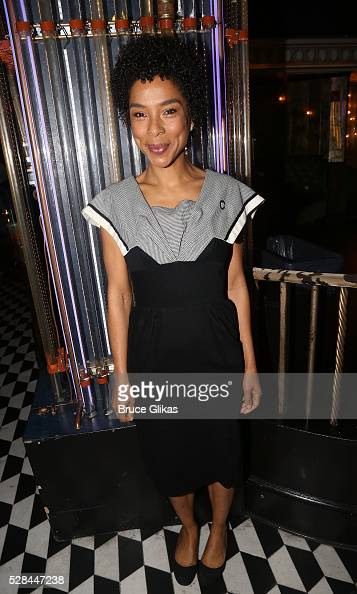 Sophie Okonedo poses at The 70th Annual Tony Awards Meet The Nominees Press Junket at The Diamond Horseshoe at the Paramount Hotel on May 4 2016 in...