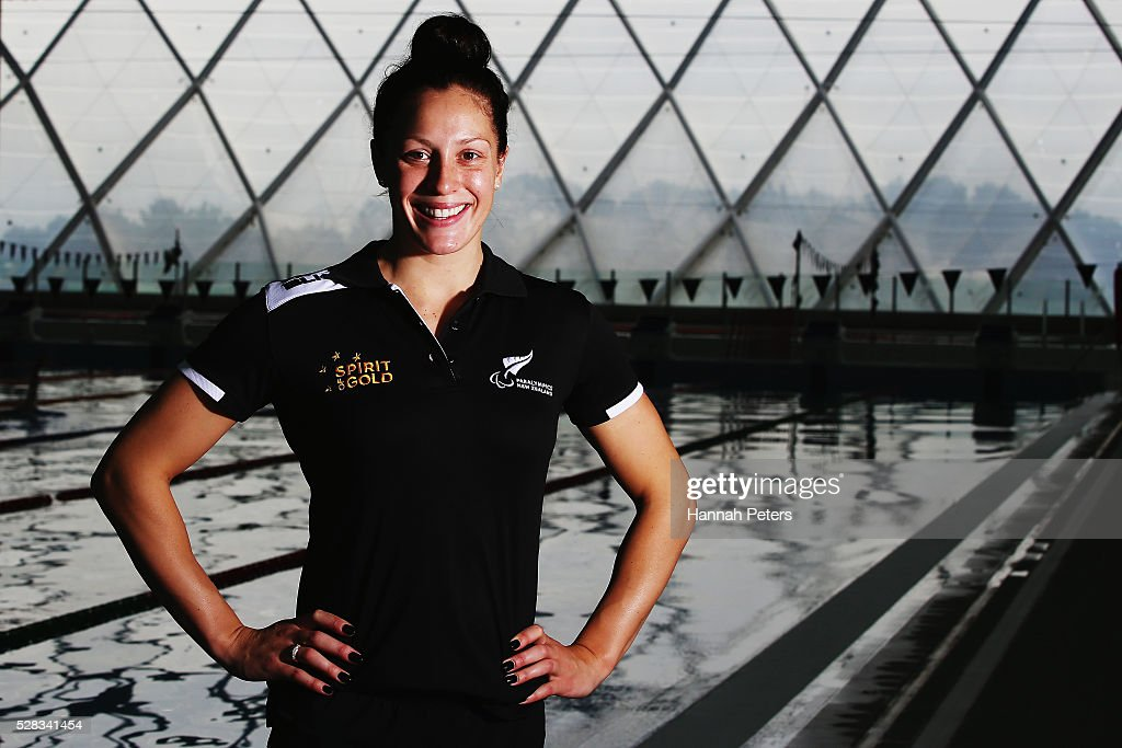 <a gi-track='captionPersonalityLinkClicked' href=/galleries/search?phrase=Sophie+Pascoe&family=editorial&specificpeople=5521857 ng-click='$event.stopPropagation()'>Sophie Pascoe</a> poses for a photo after being named during the New Zealand Para-Swimming team announcement at Sir Owen Glenn Aquatic Centre on May 5, 2016 in Auckland, New Zealand.