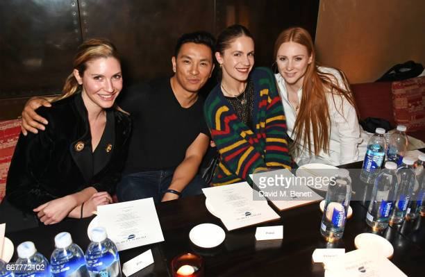 Sophie Pera Prabal Gurung Eugenie Niarchos and Aimee Croysdill attend Prabal Gurung and Caroline Issa's dinner at Shochu Lounge at ROKA to celebrate...