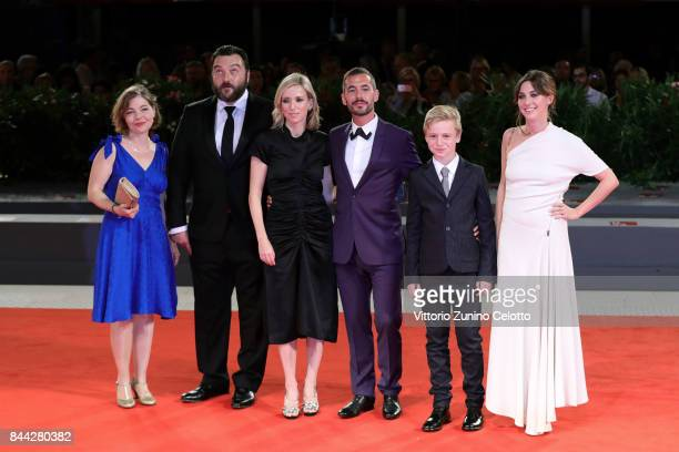 Sophie Pincemaille Denis Menochet Lea Drucker Xavier Legrand Thomas Gioria and Mathilde Auneveux walk the red carpet ahead of the 'Jusqu'a La Garde'...