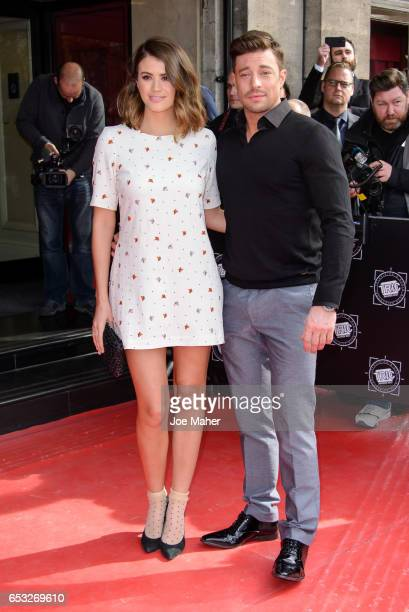 Sophie Porley and Duncan James attend the TRIC Awards 2017 on March 14 2017 in London United Kingdom