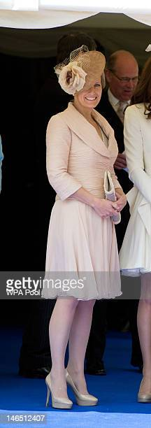 Sophie RhysJones Countess of Wessex watches the Order of the Garter procession at Windsor Castle on June 18 2011 in Windsor England The Order of the...