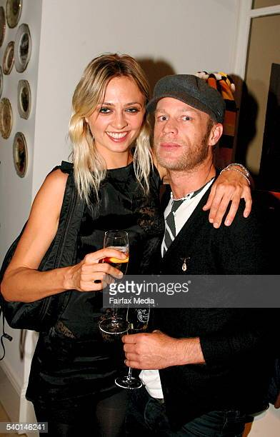 Sophie Roberts and Jarrod Dean at the Sass Bide denim launch at the Corner Shop in the Strand Arcade Sydney 27 November 2006 SHD Picture by LEE...