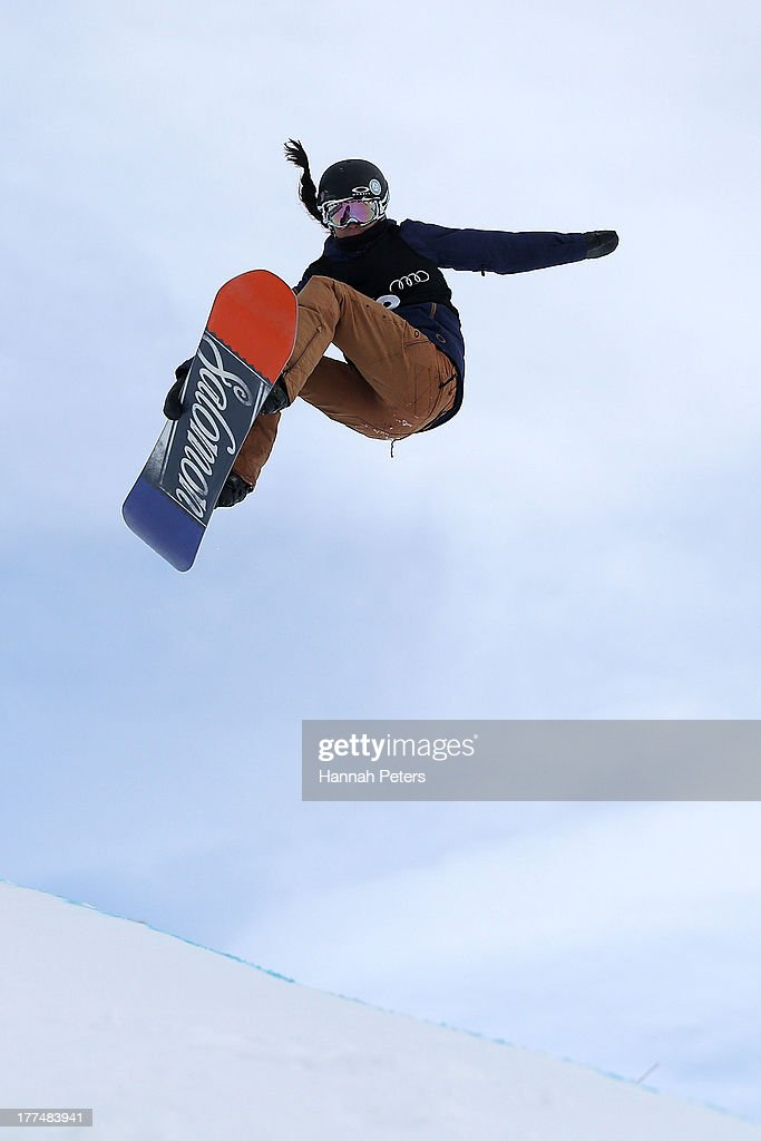 <a gi-track='captionPersonalityLinkClicked' href=/galleries/search?phrase=Sophie+Rodriguez&family=editorial&specificpeople=819734 ng-click='$event.stopPropagation()'>Sophie Rodriguez</a> of France competes during FIS Snowboard Halfpipe World Cup Semi Finals on day 10 of the Winter Games NZ at Cardrona Alpine Resort on August 24, 2013 in Wanaka, New Zealand.