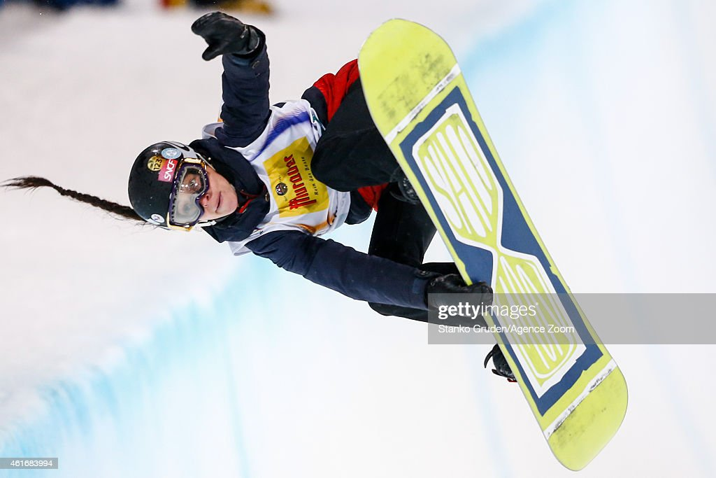 <a gi-track='captionPersonalityLinkClicked' href=/galleries/search?phrase=Sophie+Rodriguez&family=editorial&specificpeople=819734 ng-click='$event.stopPropagation()'>Sophie Rodriguez</a> of France competes during the FIS Snowboard World Championships Men's and Women's Halfpipe on January 17, 2015 in Kreischberg, Austria.