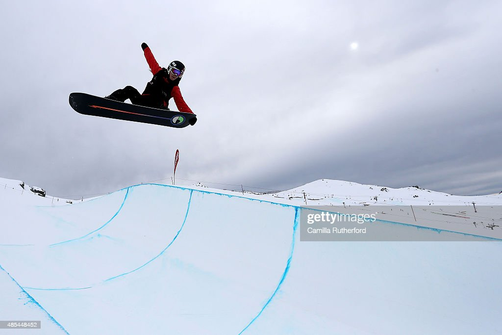 <a gi-track='captionPersonalityLinkClicked' href=/galleries/search?phrase=Sophie+Rodriguez&family=editorial&specificpeople=819734 ng-click='$event.stopPropagation()'>Sophie Rodriguez</a> of France competes in the FIS Snowboard World Cup Halfpipe Qualification during the Winter Games NZ at Cardrona Alpine Resort on August 28, 2015 in Wanaka, New Zealand.