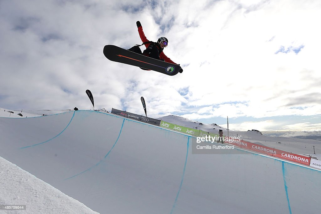 <a gi-track='captionPersonalityLinkClicked' href=/galleries/search?phrase=Sophie+Rodriguez&family=editorial&specificpeople=819734 ng-click='$event.stopPropagation()'>Sophie Rodriguez</a> of France competes in the FIS Snowboard World Cup Halfpipe Finals during the Winter Games NZ at Cardrona Alpine Resort on August 30, 2015 in Wanaka, New Zealand.