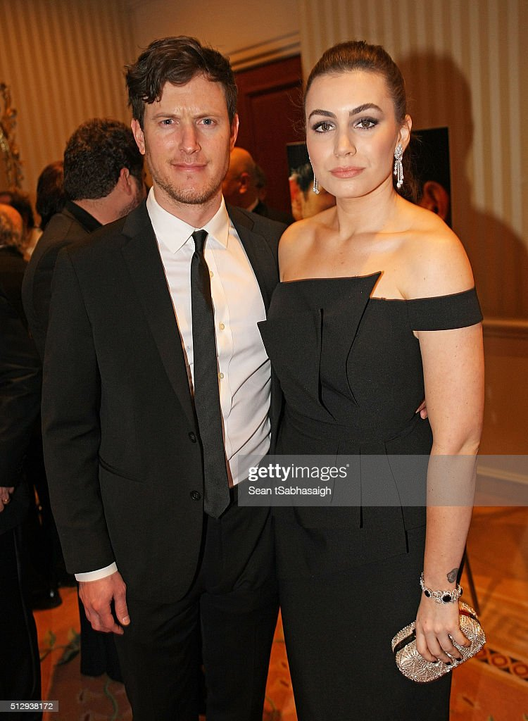 Sophie Simmons (Rt) and boyfriend James Kimble (Lt) attend the Pre-Oscar Hungarians in Hollywood Gala celebrating the Academy Award nominated film Son of Saul at the Peninsula Hotel on February 27, 2016 in Beverly Hills, California.