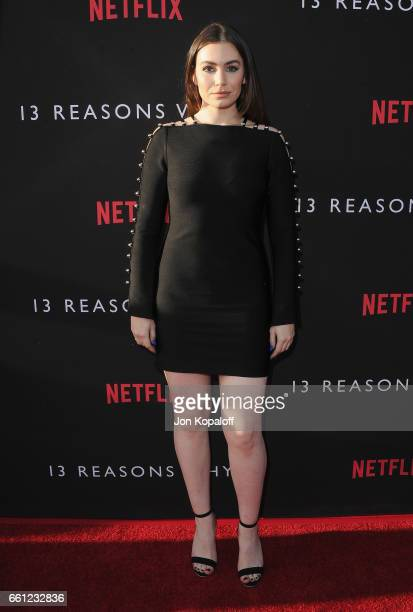 Sophie Simmons arrives at the Los Angeles Premiere of Netflix's '13 Reasons Why' at Paramount Pictures on March 30 2017 in Los Angeles California