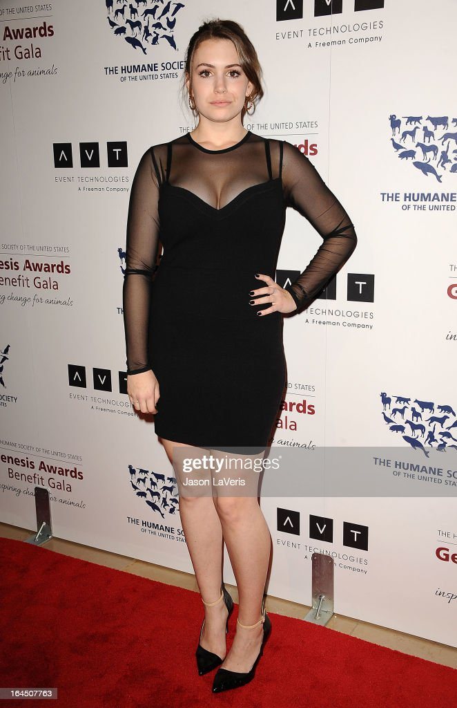 Sophie Simmons attends The Humane Society's 2013 Genesis Awards benefit gala at the Beverly Hilton Hotel on March 23, 2013 in Beverly Hills, California.