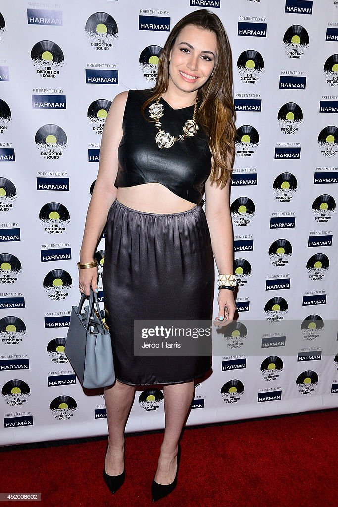 Sophie Simmons attends the Los Angeles Premiere of 'The Distortion of Sound' at The GRAMMY Museum on July 10 2014 in Los Angeles California