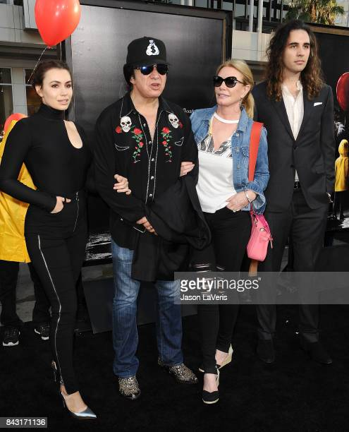 Sophie Simmons Gene Simmons Shannon Tweed and Nick Simmons attend the premiere of 'It' at TCL Chinese Theatre on September 5 2017 in Hollywood...