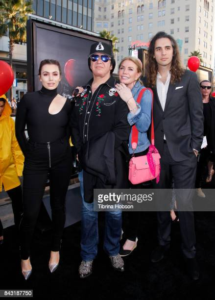 nick simmons and sophie simmons. sophie simmons gene shannon tweed and nick attend the premiere of \u0027it