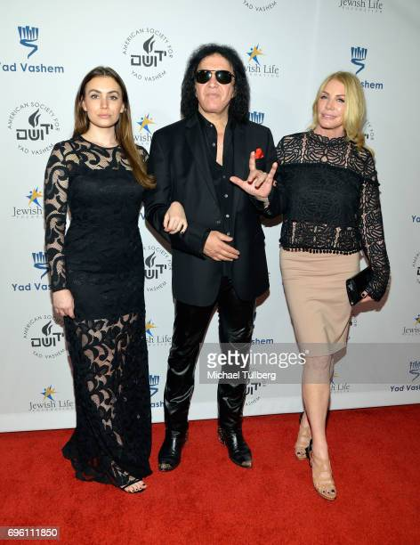 Sophie Simmons rock musician Gene Simmons and Shannon Tweed attend the American Society for Yad Vashem and the Jewish Life Foundation's Salute To...